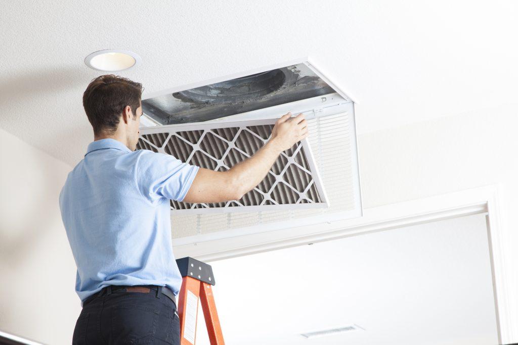 pulizia e sanificazione filtri dell'aria a Mezzocammino